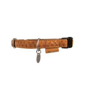 Macleather halsband bruin