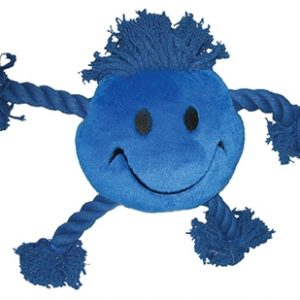 Happy pet happy faces pluche smiley blauw