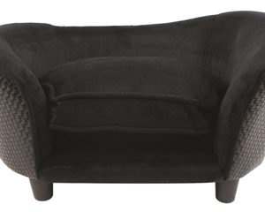 Enchanted hondenmand sofa ultra pluche snuggle wicker zwart
