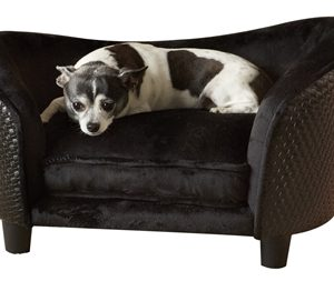 Enchanted hondenmand sofa ultra pluche snuggle wicker bruin