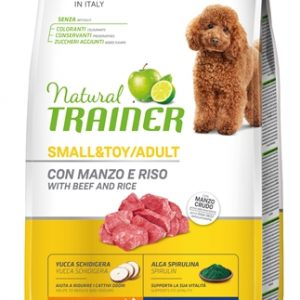 Natural trainer dog adult mini beef / rice