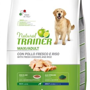 Natural trainer dog adult maxi chicken / rice